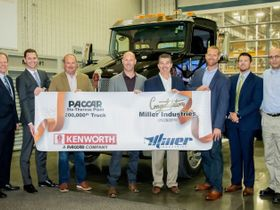 Miller Industries Takes Delivery of Milestone Kenworth T270