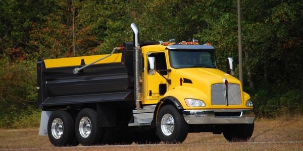 A Kenworth T370 with an end dump configuration will be on display.