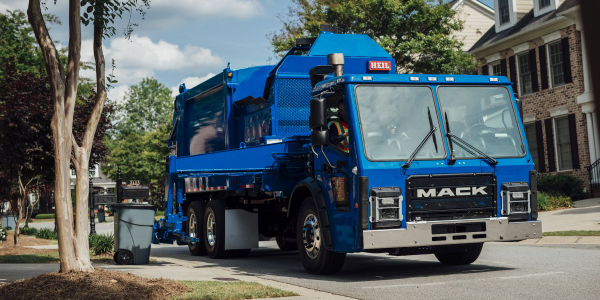 Mack believes a fully electric vehicle will work best in a closed loop application in which the...