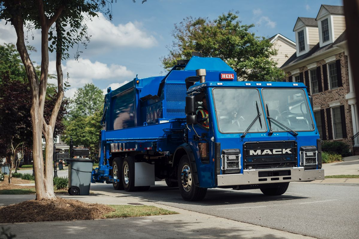 Mack believesa fully electric vehicle will work best in a closed loop application in which the truck returns home every night – such as in the refuse industry.  -