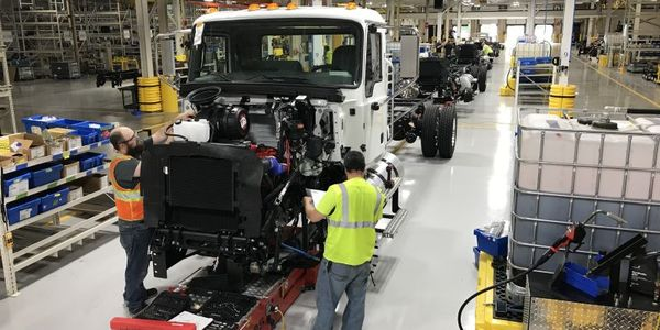 The Mack MD Series begins to roll off the line at RVO in prep for full production.