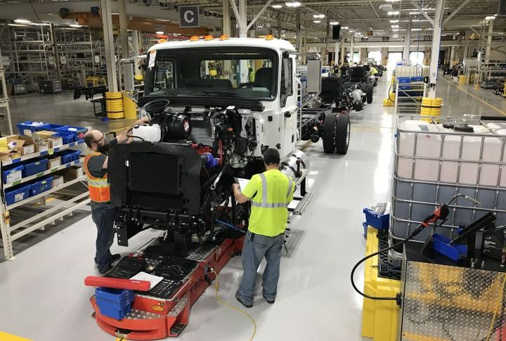 The Mack MD Series begins to roll off the line at RVO in prep for full production.  - Photo: Mack Trucks