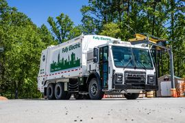 Mack Commercializes the LR Electric Refuse Truck