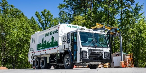 Mack Trucks announced plans to commercialize the Mack LR Electric refuse model powered by a...
