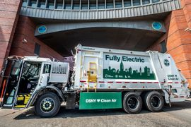 First Mack LR Electric Serves N.Y. Sanitation Department