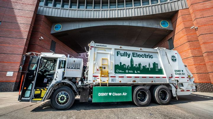 The DSNY Mack LR Electric demonstration model will be based at DSNY's Brooklyn North 1 garage. - Photo: Mack Trucks
