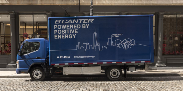 Fuso is the first to commercialize a series-produced, all-electric work truck, according to the...