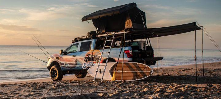 TheNissan TitanXD flexes its beach body as Titan Surfcamp.  - Photo courtesy of Nissan Motor Co.