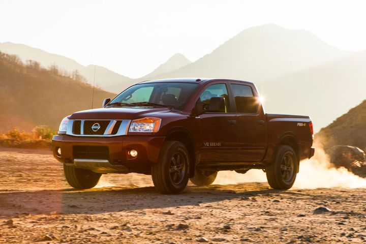 The 2013 model-year Nissan Titan is among the models impacted but the current air bag recall.  - Photo: Nissan