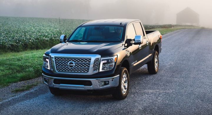 For 2019,every Titan 1/2-ton is powered by a 390-hp 5.6LEnduranceV-8 gasoline engine mated to a 7-speed automatic transmission.  - Photo courtesy of Nissan