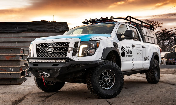 Originating as a stock Titan XD Diesel Crew Cab Midnight Edition, transformation into the Ultimate Work Titan included products and accessories from several of the top manufacturers. 