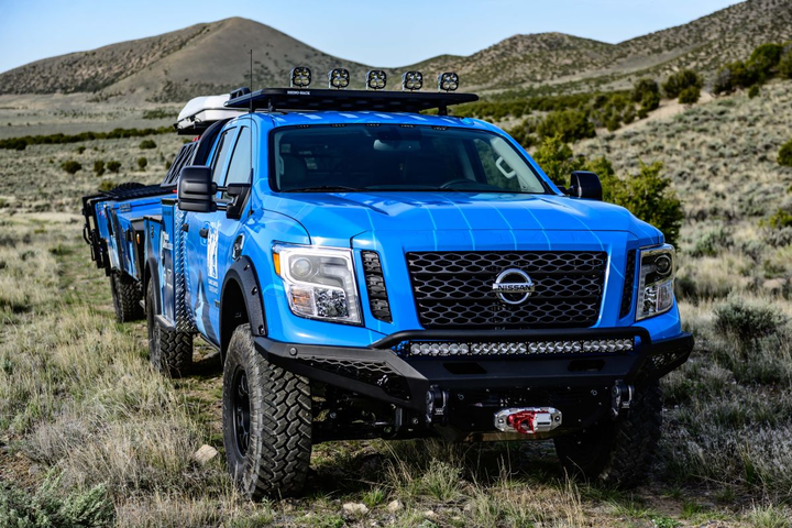 The Ultimate Parks Titan is powered by Nissan's 5.6L Endurance V-8 engine.