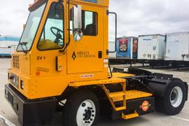 Ability Tri-Modal Deploys Orange EV Yard Trucks
