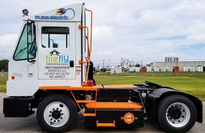 """Orange EV'sfleet of Class 8 battery-electric trucks, commercially deployed since 2015, recently surpassed 575,000 miles and 161,000 """"key on"""" hours  - Photo courtesy of Orange EV"""