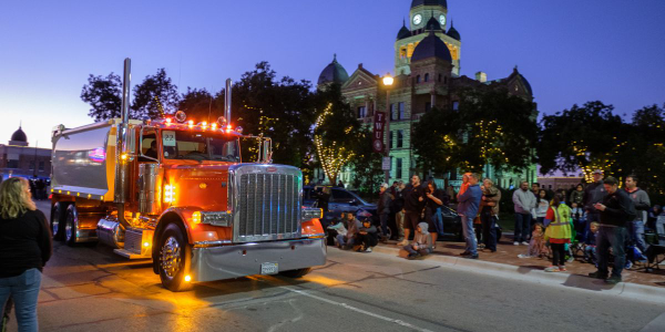 The annual Pride and Class Parade invites owners of 50 custom Peterbilt trucks from around the...