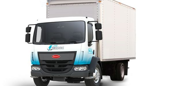 The Peterbilt Model 220EV offered as part of the special lease program is a non-CDL variant...