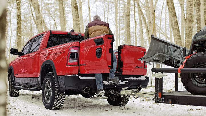4b1ff3b338 The 2019 Ram 1500 includes new features such as the multifunction tailgate  with Mopar bed step