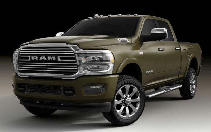 The 2020 Ram 1500 will be available in three new exterior colors, including Olive Green (late availability). 