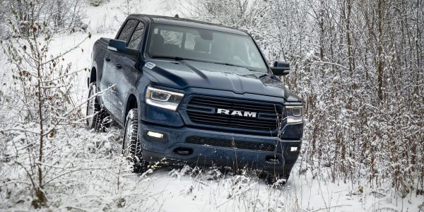 The 2020-MY Ram 1500 (pictured) was among the truck models recalled for floormat issues.