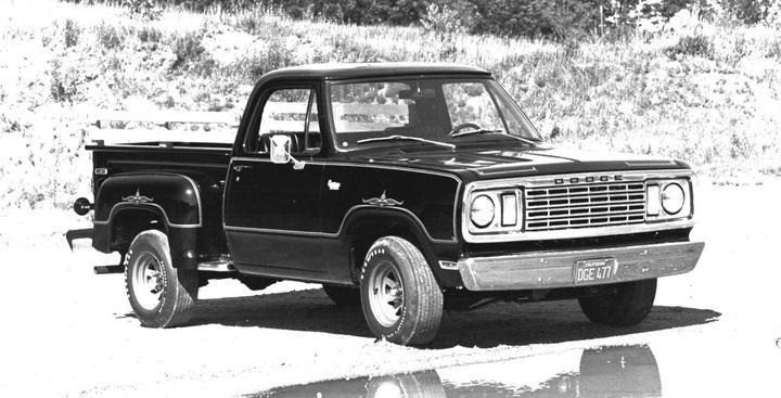 The original 1977 Dodge D100 Warlock.  - Photo courtesy of Ram Truck