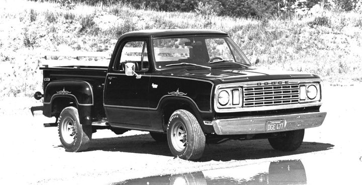 The original 1977 Dodge D100 Warlock.