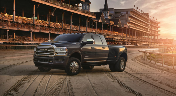 Ram Trucks commemorated its 10-year anniversary as the Official Truck of Churchill Downs and The Kentucky Derby with the 2019 Ram Heavy Duty 2500 and 3500 limited edition trucks.  - Photo courtesy of Ram Trucks