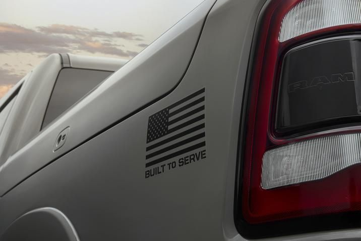 Buyers can apply their own patches – regimental, flags, name tapes, or slogans – to personalize their pickup