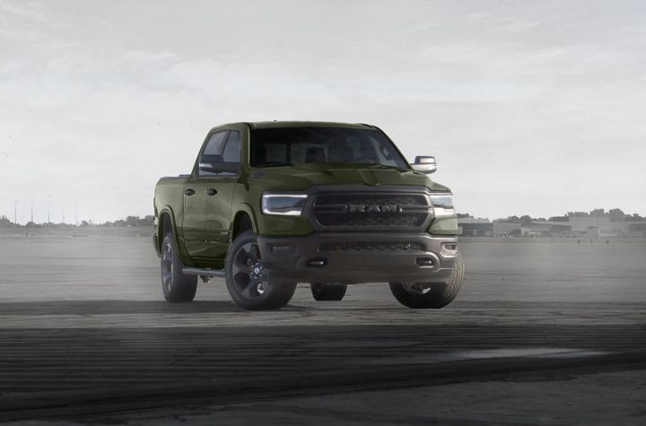 2021 Ram 1500 Built to Serve Edition in Tank exterior color. - Photo: Ram Truck