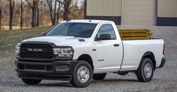 On the two-door configuration, the Tradesman maintains a manually shifting transfer case, vinyl floors and crank windows, according to Ram.