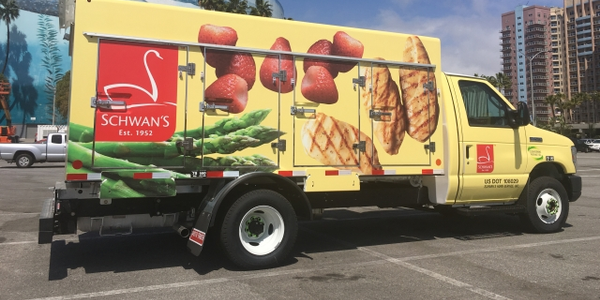 Schwan's unveiled its newest propane-autogas Ford E-450 at the ACT Expo in Long Beach,...