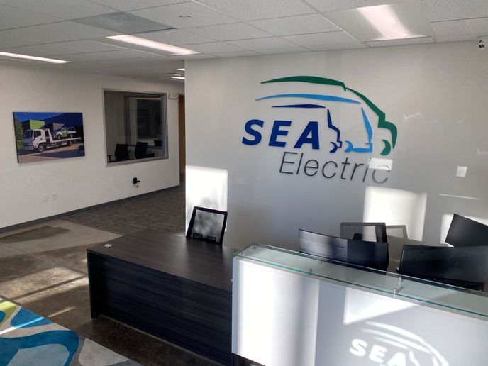 The new 12,000 square foot facility in Torrance is located in Los Angeles County and will act as the commercial EV hub for the California area. - Photo: SEA Electric