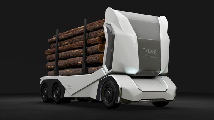 Emitting no greenhouse gases or toxic nitrogen oxides, the T-log is an environmentally and health friendly alternative to diesel powered trucks.  - Photo courtesy of Einride