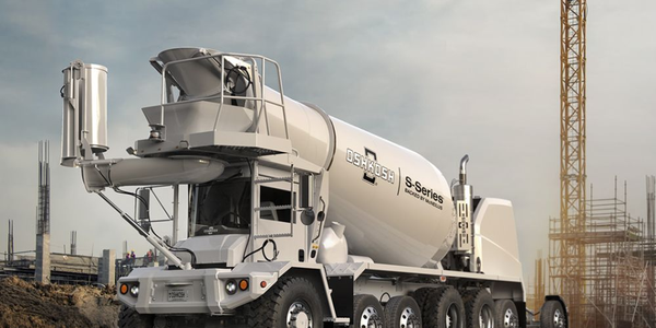 This lighter truck allows for more concrete per load and decreases the number of trips and...
