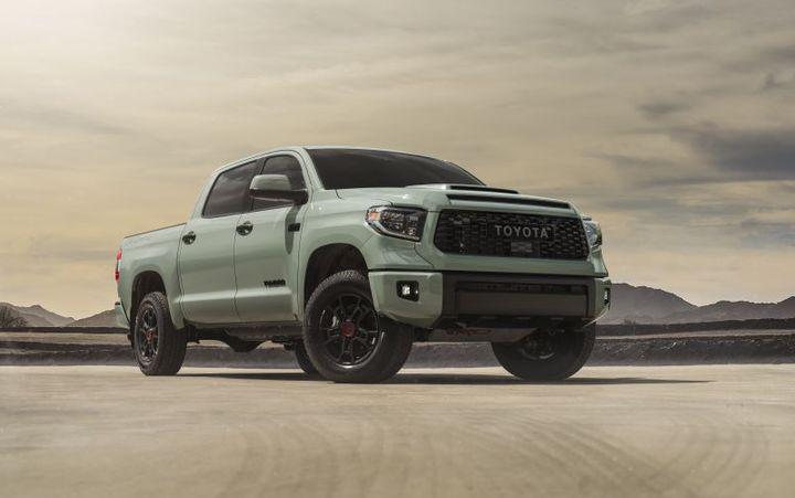 The 2021 model also brings in new black TRD alloy flow form wheels wrapped in Nitto Terra Grappler tires. - Photo: Toyota