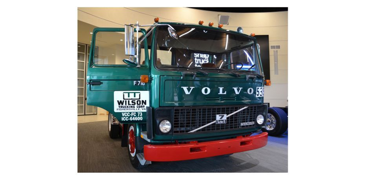 A 1982 Volvo F7, the first Volvo truck built at Volvo's New River Valley assembly facility, will reside at the Volvo Trucks Customer center, adjacent to the plant.