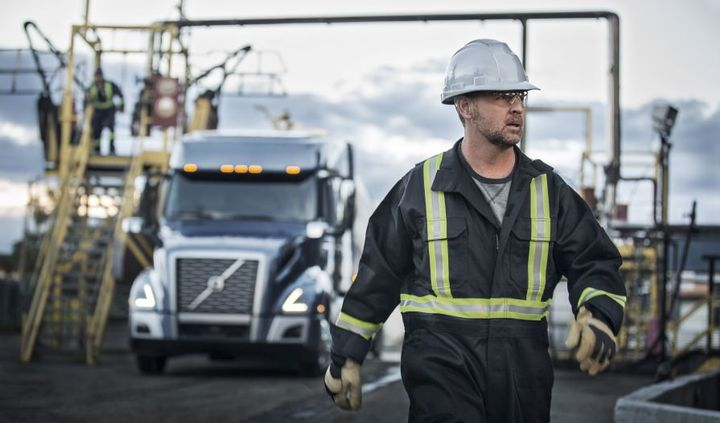 No matter the distance, no matter the load, you get the job done, safely and on time. Volvo thanks truck drivers for moving our world.  - Photo courtesy of Volvo Trucks