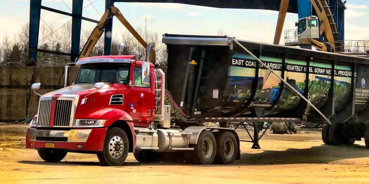 Upstate Shredding ensures its trucks, including the fiery red Western Star 5700XE, look good on the job because it reflects well on the company and helps attract drivers in a tight labor market.