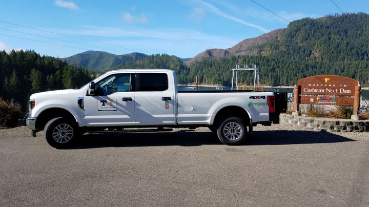 The Tacoma Public Utility is adding several of XL's hybrid electric units, including XL hybrid-equipped Ford Transits and Ford F-250 trucks.  