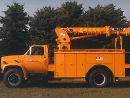 In the 1960s and 1970s, hydraulic digger derricks were introduced, and designed to be mounted on...