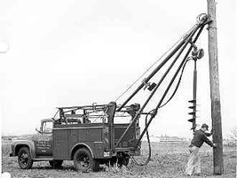 The digger derrick caught on, and mass production of the machine took off in the 1950s.