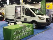 Alliance Fleet showcased two vans, highlighting its rack and shelving options, power inverters...