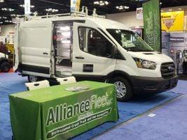 Alliance Fleet showcased two vans, highlighting its rack and shelving options, power inverters...