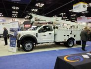 Altec featured several trucks on the show floor, including an upfitted Ford F-550.