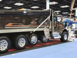 Bibeau featured two trucks, including a dump truck model from Chris Kelley Trucking from...