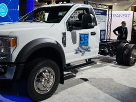 Ford displayed its Ford F-600, a Class 5 truck with Class 6 capability.