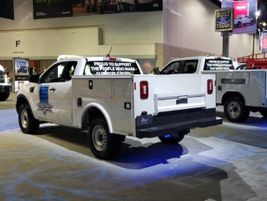 Ford also featured a number of trucks with upfits and service body packages on display.