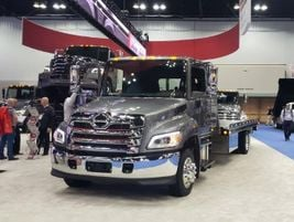 Hino brough out its new XL Series in full force, including flat bed models and a crew cab...