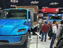 Electric was big, with International featuring its eMV Series concept vehicle.
