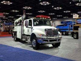 International Trucks showed off several models, including its MV Series featuring Allison...