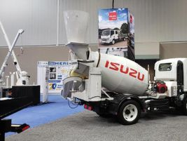 Rush Dayton, Ohio,has been selling a Isuzu NRR 19,500 GVW cement mixer from Ernest Industries...